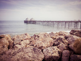 Malibu Pier Retro Picture in Malibu California