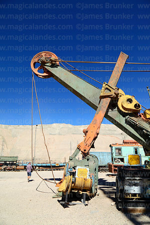 Disused power shovel excavator on display near Chuquicamata mine, Region II, Chile