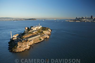 Aerial view of Alcatraz Island