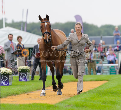 Sarah Bullimore and VALENTINO V - The first vets inspection (trot up),  Land Rover Burghley Horse Trials, 3rd September 2014.