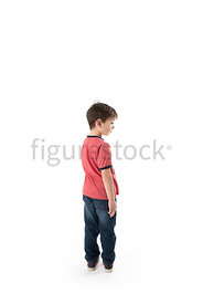 A boy in a t-shirt - shot from mid level.