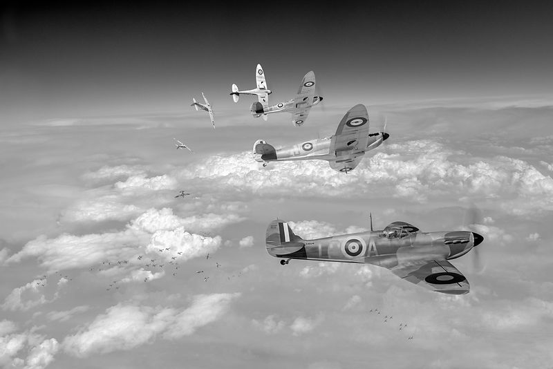 Their finest hour black and white version