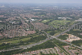 Didsbury and Parrs Wood M60 motorway Manchester