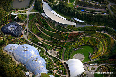 aerial photograph of  the Eden Project   Cornwall England UK