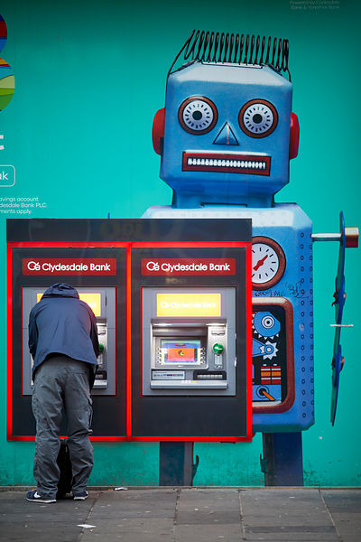 An ATM in Glasgow