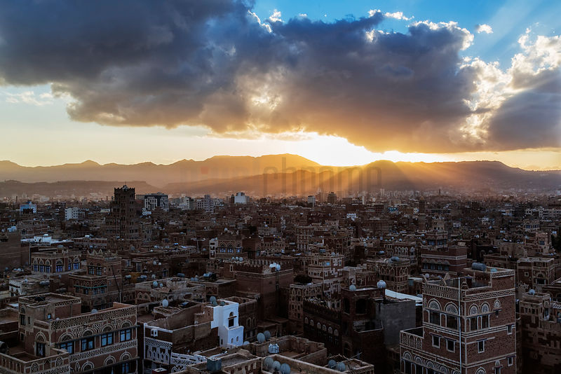 Sunset Old Sana'a