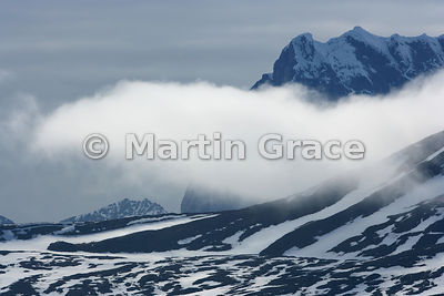 Mountainscape with cloud, Hornsund, Spitsbergen, Svalbard