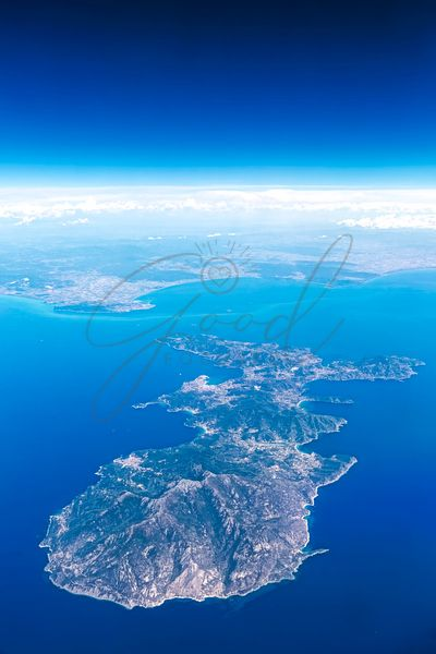 Aerial View of Elba Island - Italy
