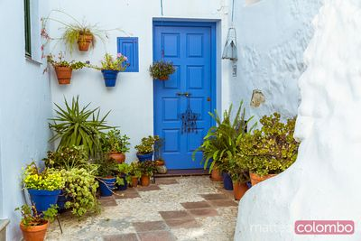 In the streets of a pueblo blanco, Andalusia, Spain