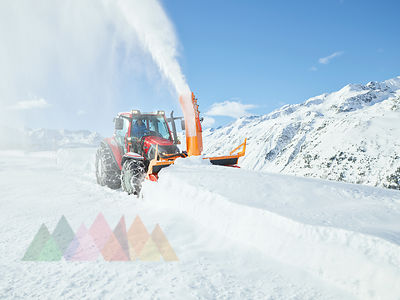 Austria, Tyrol, Oetztal, snow clearance, snow vehicle, snowblower