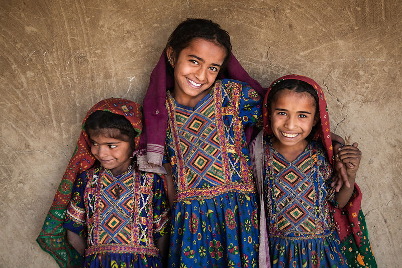 Portrait of Children from The Jat Tribe