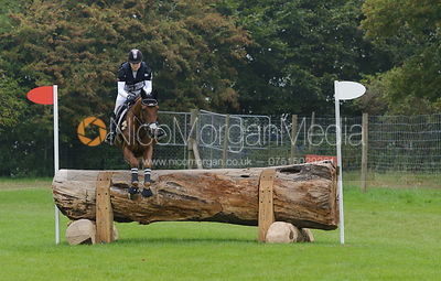 Marilyn Little and RF DEMETER - cross country phase,  Land Rover Burghley Horse Trials, 6th September 2014.