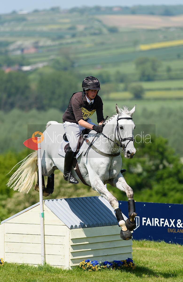 Richard P Jones and ALFIES CLOVER, Fairfax & Favor Rockingham Horse Trials 2018