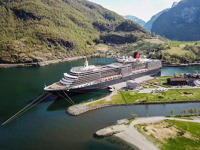 Cruise Ship in Norwegian Fjord