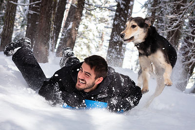 Max Zavala and his dog Zeus - Butte Meadows, California