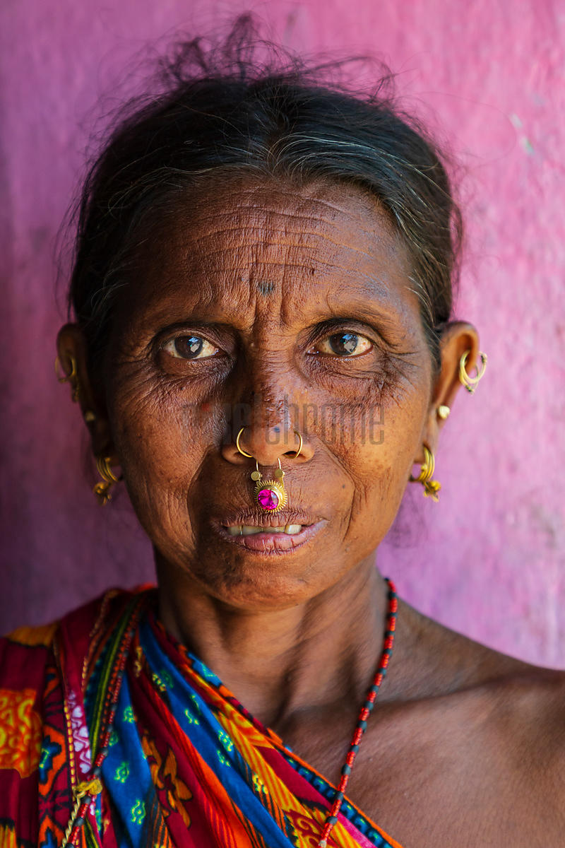 Portrait of a Woman from the Dasia Tribe