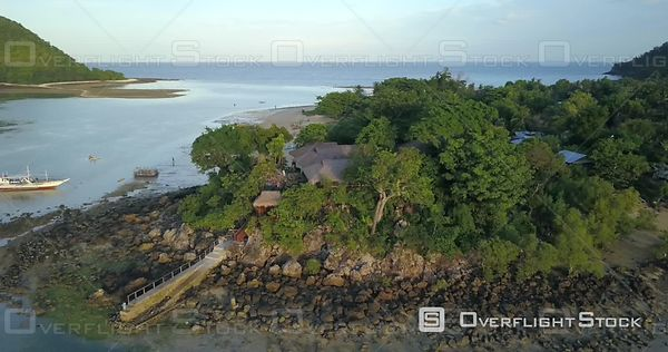 Sicogon Island North of Panay Island. Drone Video Philippines Tourism.
