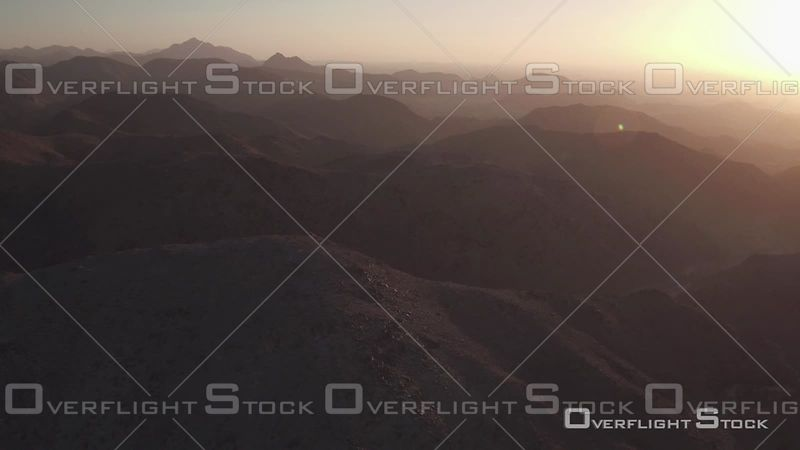 Sunset Over the Mountains of Jebel Ali, United Arab Emirates
