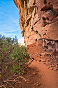 Cliff Dwelling Walls- Honanki Heritage Site- Near Red Rock/Sadona, Arizona