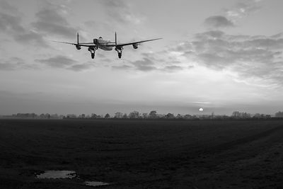 Lancaster sunset CROP BW version