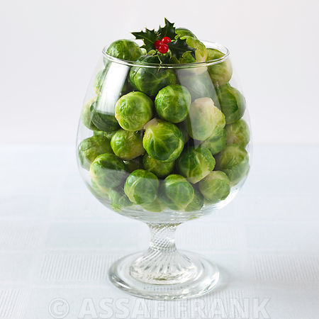 Brussel sprouts in a wine glass