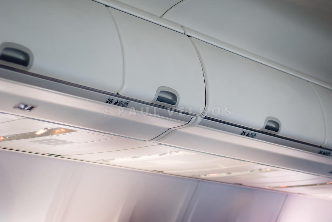 Airplane Overhead Bins for Carryon Bags
