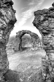 Arches At Castell Dinas Bran (Monochrome)