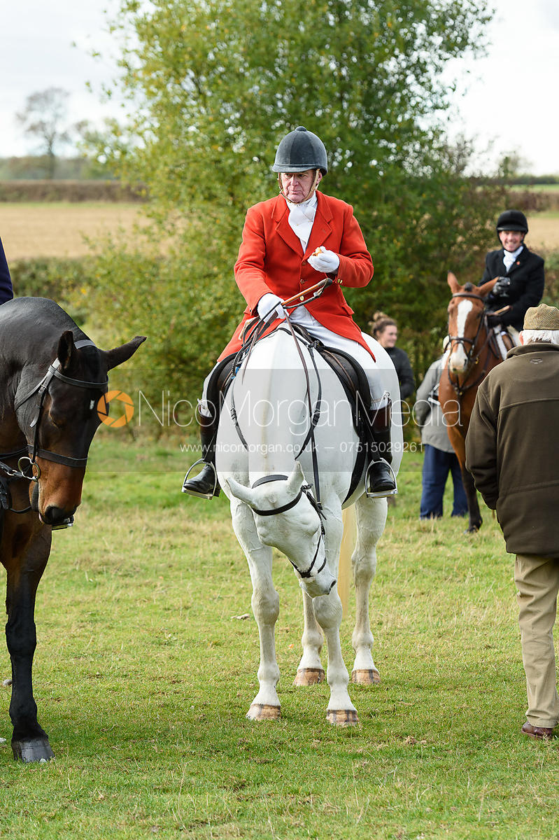 Chris Woodhouse at the meet. Quorn Hunt Opening Meet 2018