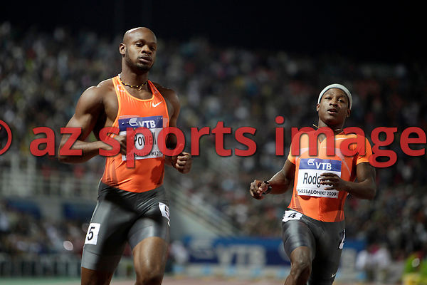 Tyson Gay (USA),Asafa Powell (JAM)