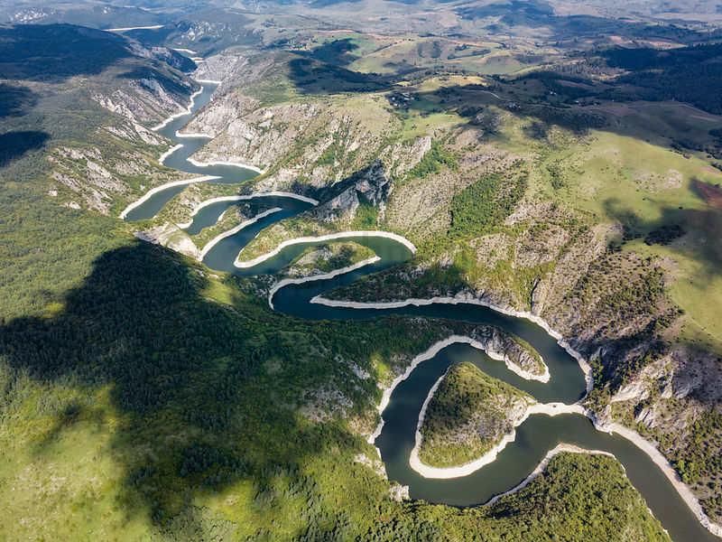 The Miandering Path of the Uvac River