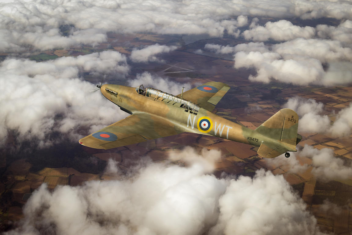 Fairey Battle in flight