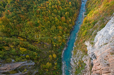 Tara Canyon viewed from Djurdjevica Bridge, Durmitor NP, Montenegro, October 2008. WWE BOOK