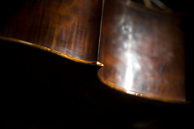 Hungary - Pecs - Abstract details of a double bass