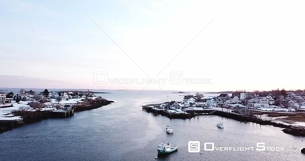 Village of Biddeford Pool Maine and  Lobster Boats