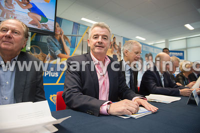21st September, 2017.Ryanair AGM at Ryanair HQ, Swords. Pictured is Ryanair CEO Michael O'Leary at the AGM.Photo: BARRY CRONI...