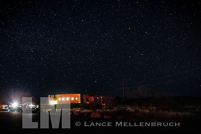 Marfa lights viewing area in Marfa Texas