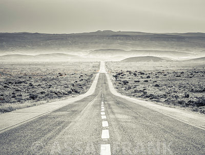 Highway through desert
