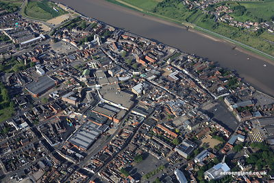 aerial photograph of King's Lynn Norfolk England UK