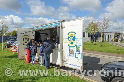 21st April, 2012. Castleknock GFC football nursery, Carpenterstown, Dublin. Pictured are some of the parents making purchases...