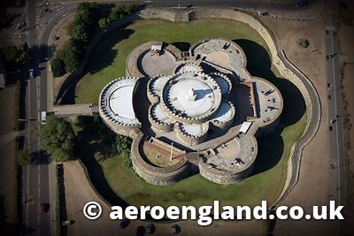 aerial photograph of Deal Castle in Kent  England UK