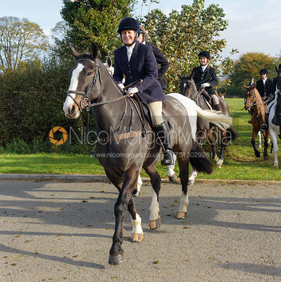 Doone Chatfeild-Roberts leaving the meet at Long Clawson