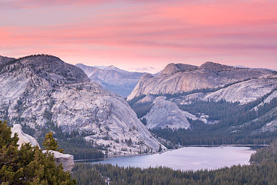 Tenaya Lake from Olmsted Point, Yosemite National Park, California, USA. June 2015.