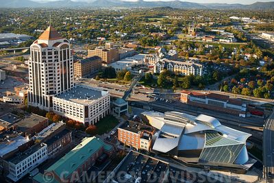 Aerial photogrpah of Roanoke, Virginia