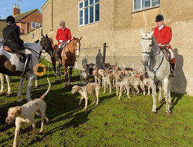 Andrew Osborne, Chris Edwards at The Cottesmore meet at Priory Farm