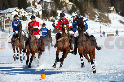 Polo World Cup on Snow St.Moritz 2011 Game Great Britain v Switzerland