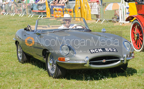 Jaguar. The parade of classic and vintage cars.