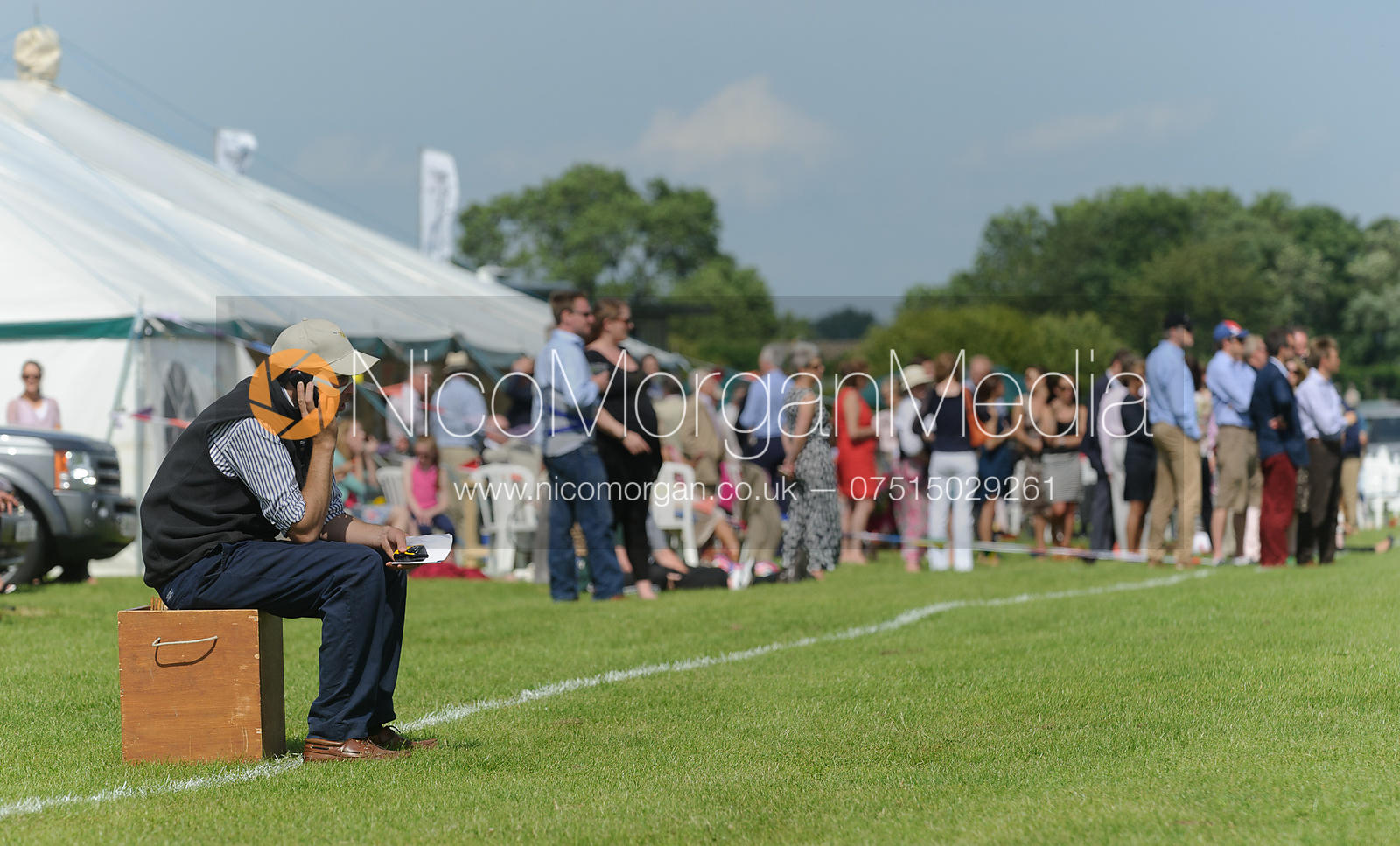 Henry Browne and Assam crowds - Assam Cup - Rutland Polo Club, 30th Jun 2013.