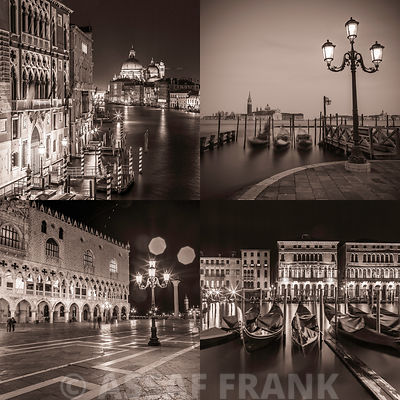 Collage of Venice in sepia