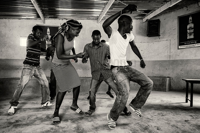 Young People Dancing at a Local Bar