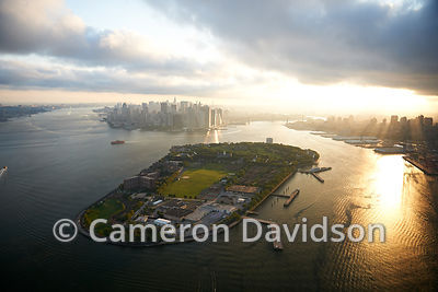 Aerial photo of Governor's Island